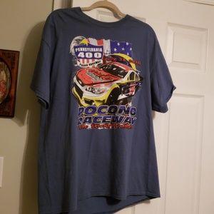Poconos tshirt nascar xl new